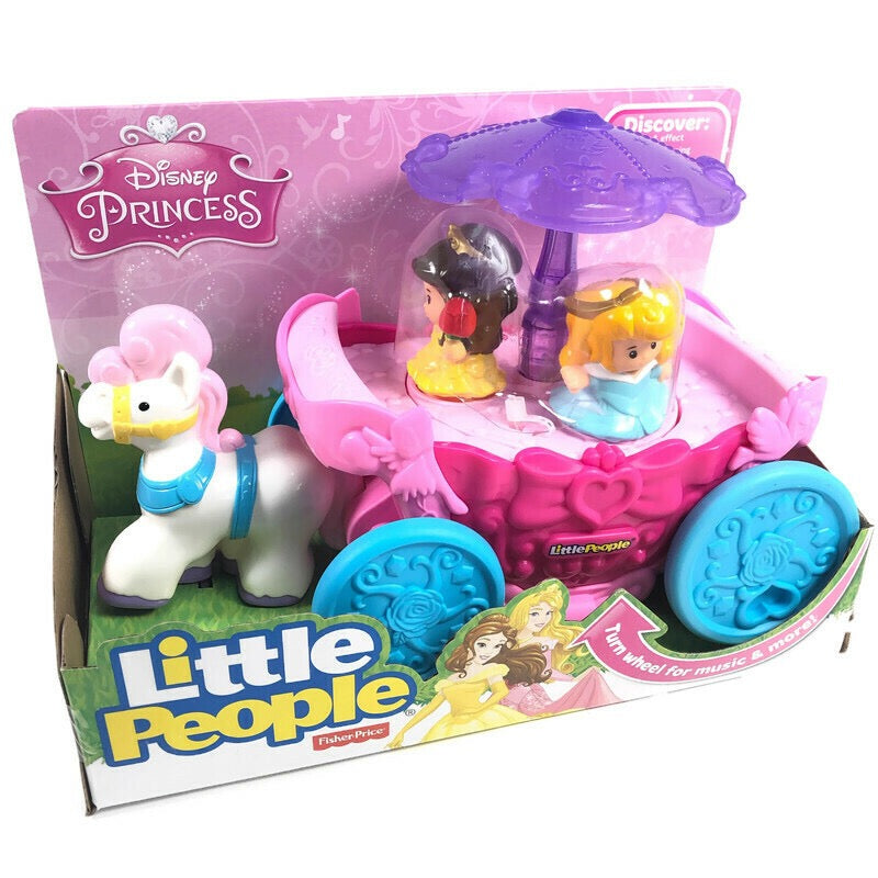 Fisher Price Little People Disney Princess Bella Aurora Musical Carriage
