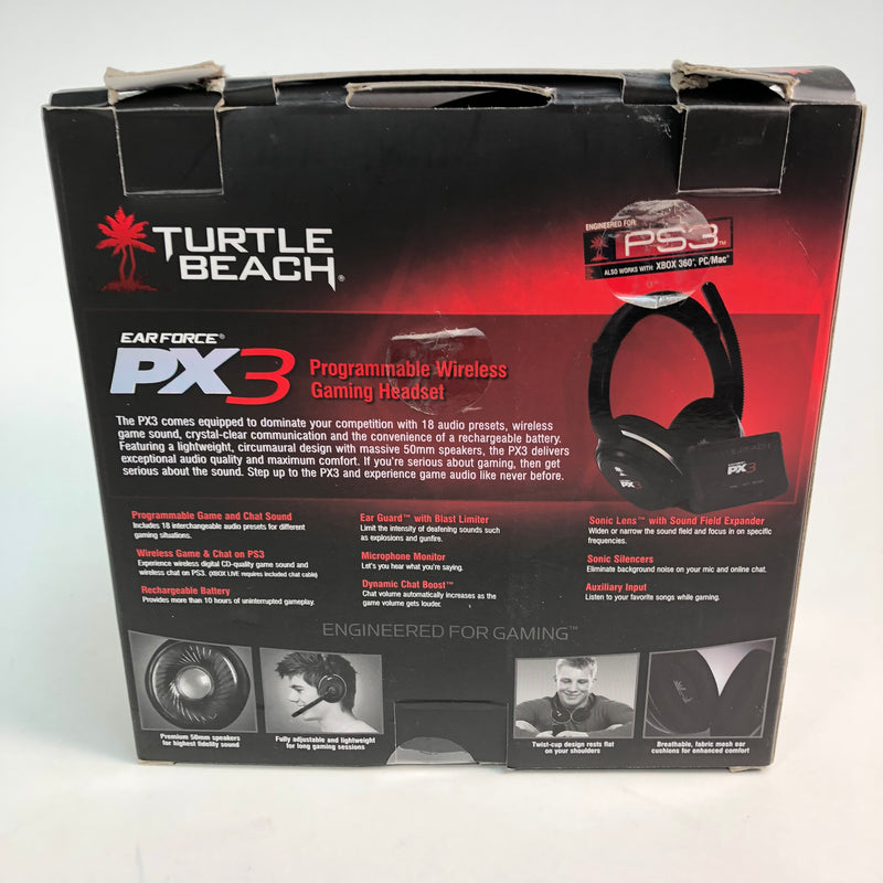 Turtle Beach Ear Force PX3 Programmable Wireless Gaming Headset PS3 XBOX PC