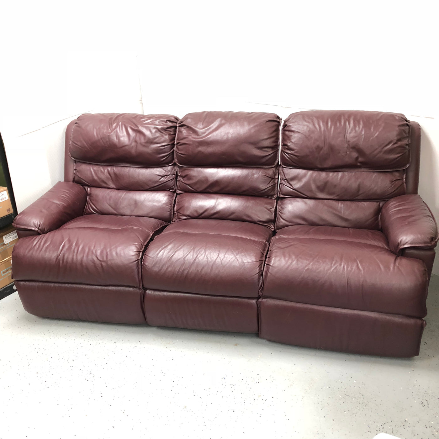 Red Double Reclining Leather 3 Seat Sofa Couch M15sales Com