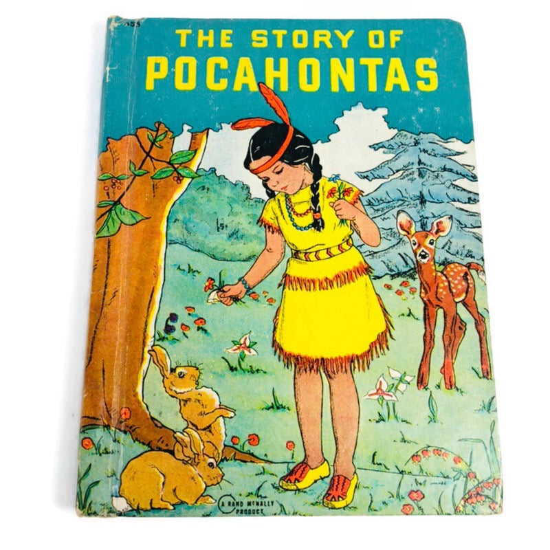 The Story Of Pocahontas Rand Mcnally 1942 Vintage Book