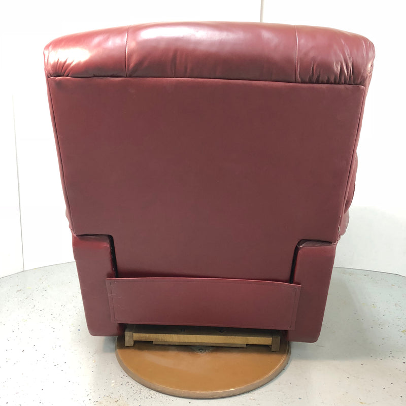 La-Z-Boy Maroon Red Leather Rocker Recliner