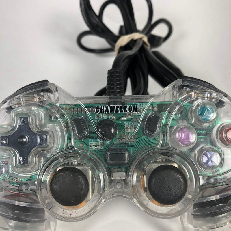 Pelican Chameleon Playstation 2 PS2 Clear Wired Controller