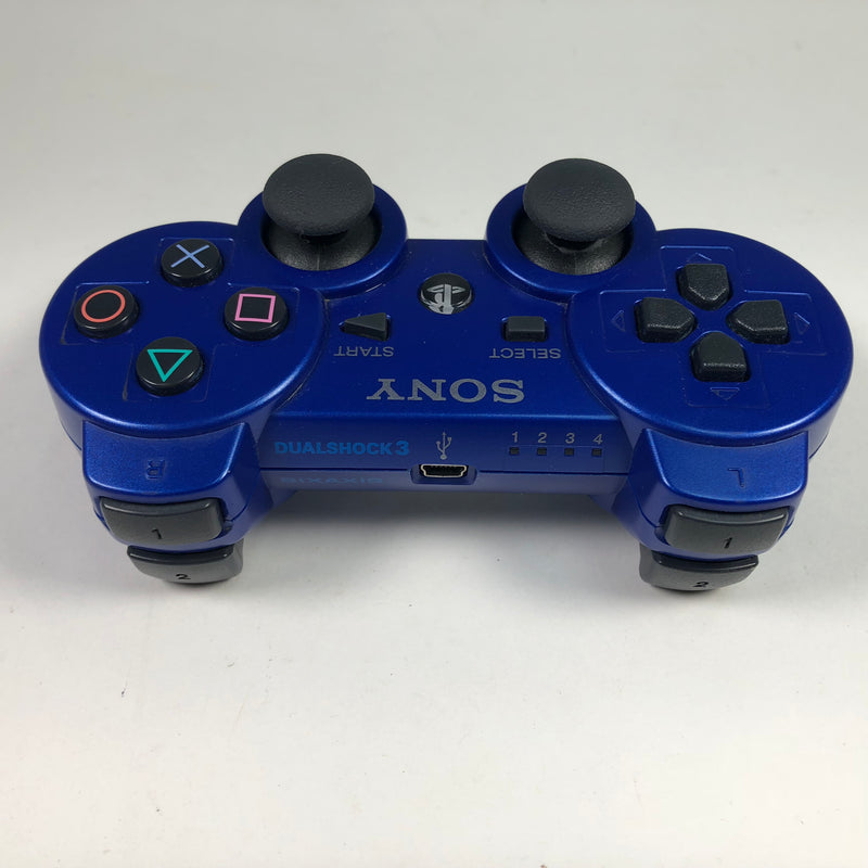 Sony Playstation 3 PS3 Blue Dualshock 3 Sixaxis Wireless Controller OEM