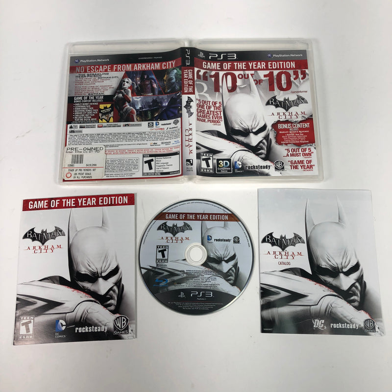 Batman Arkham City GOTY Game of the Year Edition Sony Playstation 3 PS3 Complete