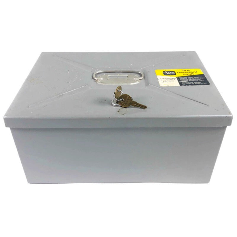 Acorn Fire Resistant Metal Safe Box Vault w/ Keys