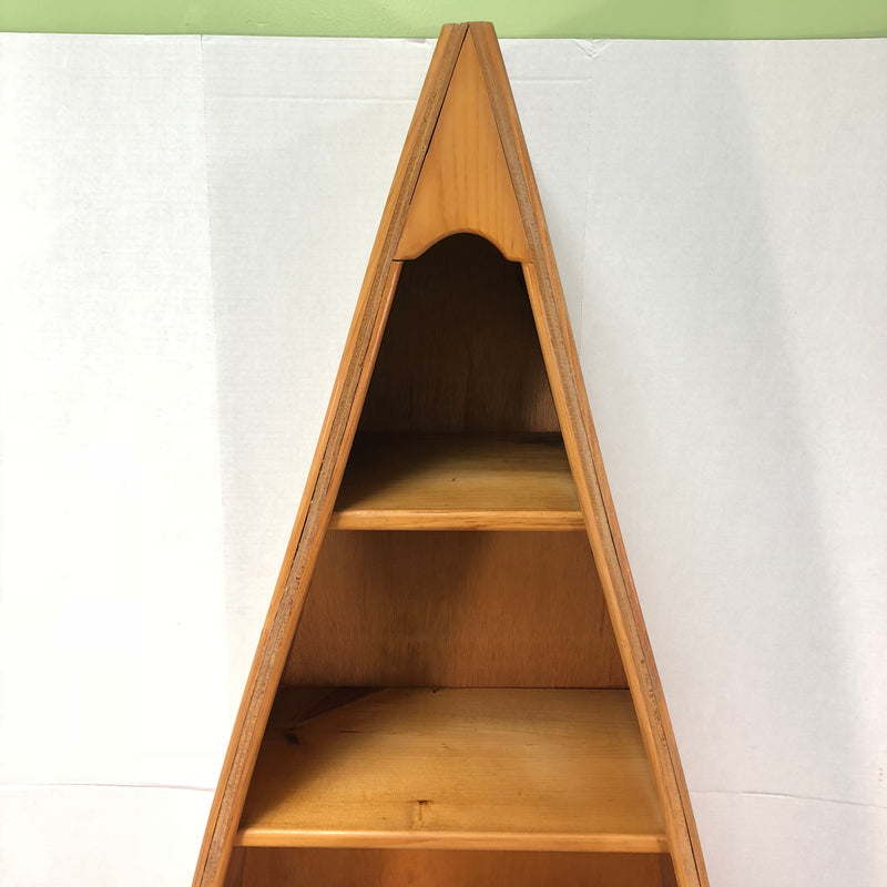 Half Canoe 5 Shelf Bookcase Solid Oak Bookshelf Case