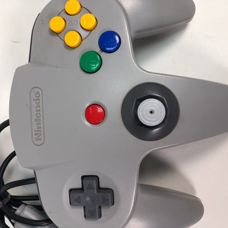 Nintendo 64 N64 Grey OEM Controller For Parts Repair AS IS