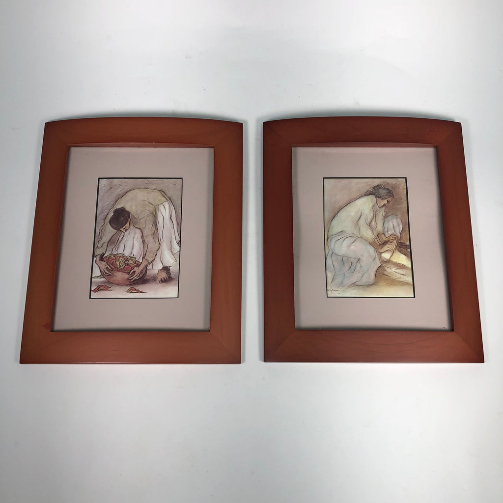 "(2) RC Gorman Framed Print 12.5"" x 10.5"" Art"