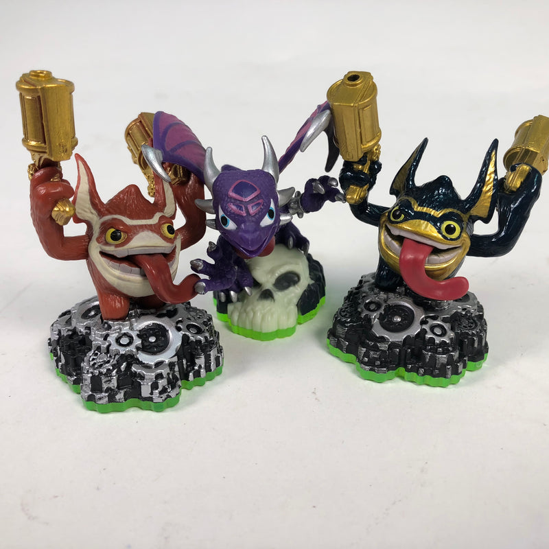 (3) Skylanders Spyros Adventure Legendary Trigger Happy Cynder Figures Lot