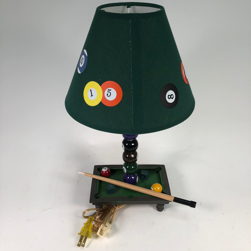"(2) 16"" Pool Themed Mini Table Lamp"