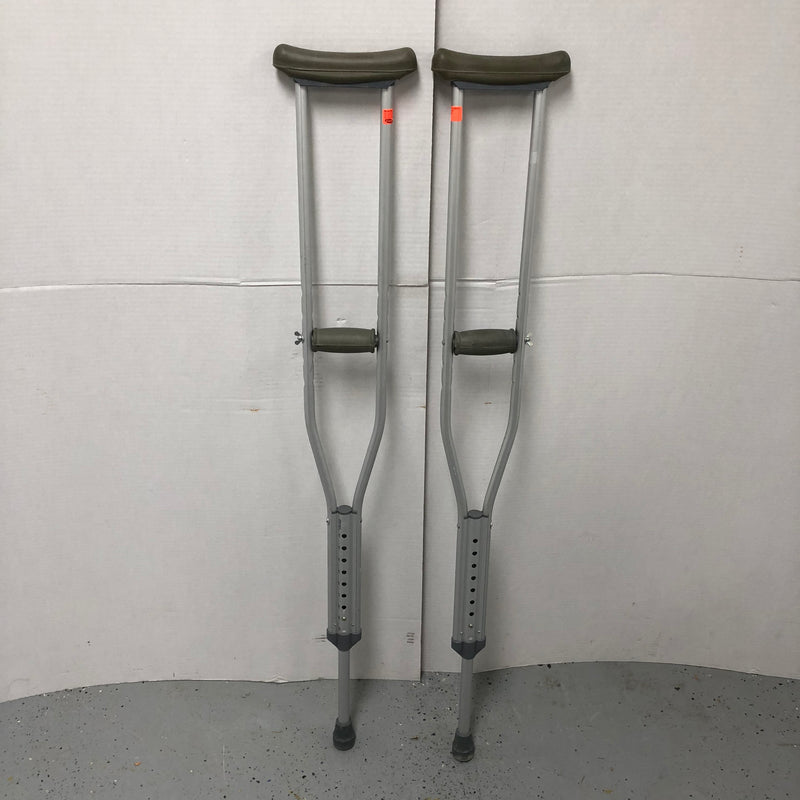 Invacare Aluminum Walking Crutch Adjustable Crutches 8115-A Adult