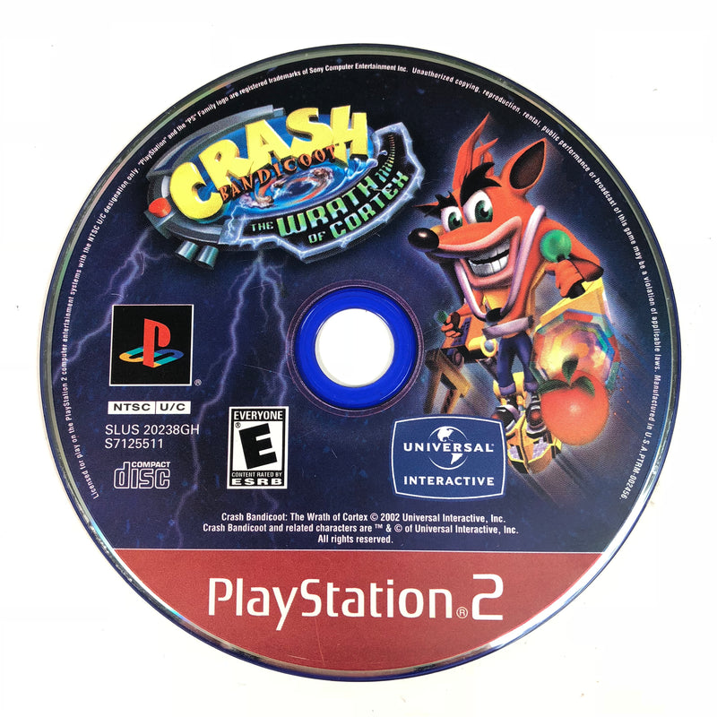 Crash Bandicoot The Wrath Of Cortex Sony Playstation 2 PS2 Disc Only