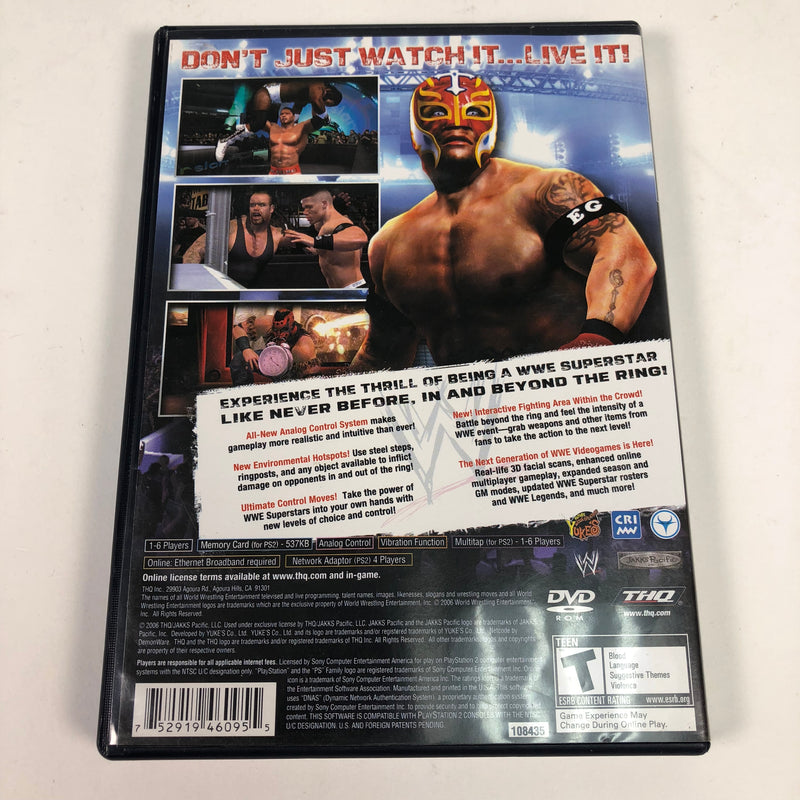 WWE Smackdown Vs Raw 2007 Sony Playstation 2 PS2 Complete