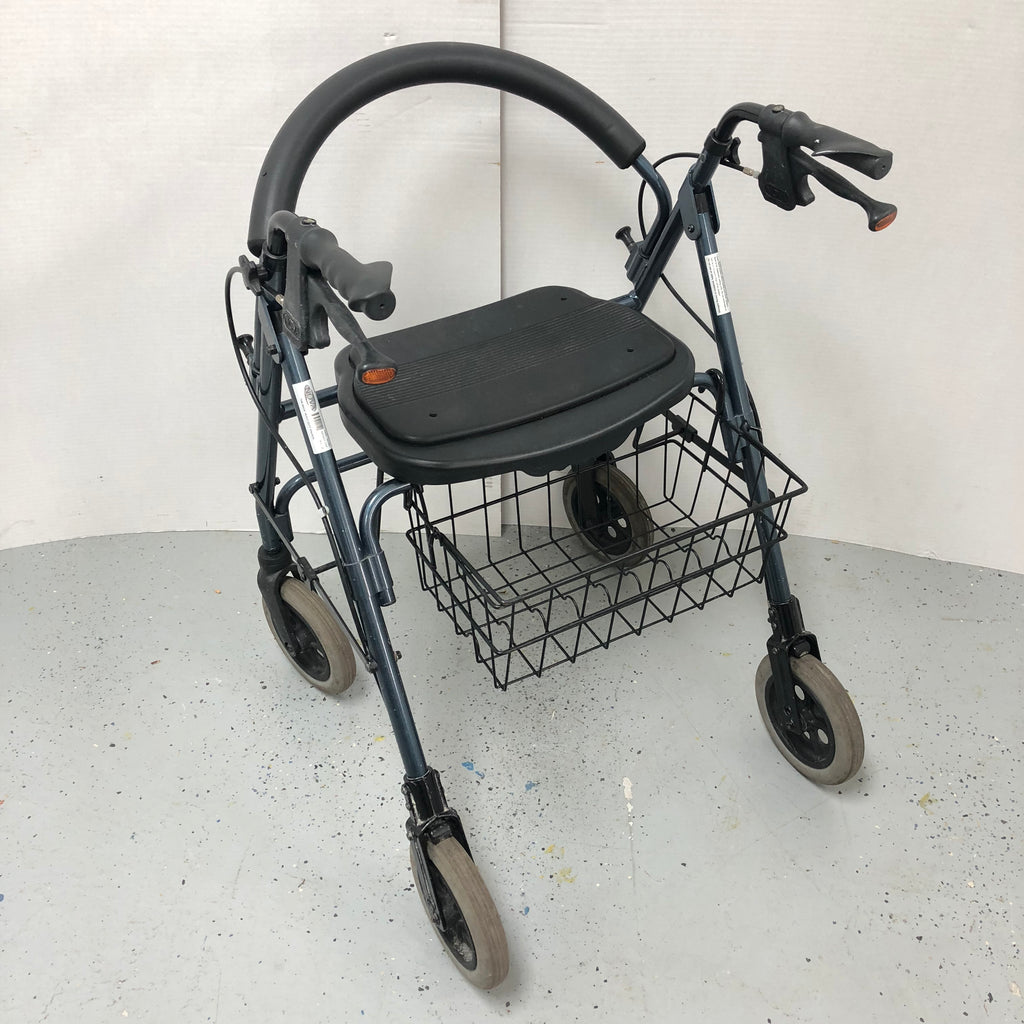 "Nova The ""Mack"" Heavy Duty Walker w/ Seat Breaks & Reflectors +"