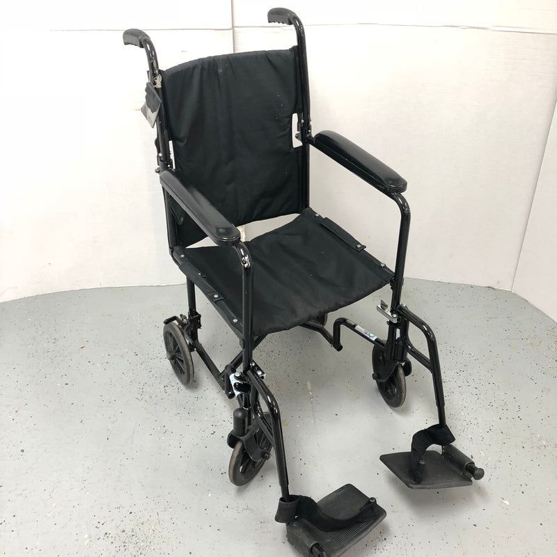 Black Medical Lightweight Transport Wheelchair Home Health Handicap Care Wheel Chair