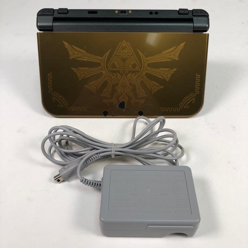 """New"" Nintendo 3DS XL Zelda Hyrule Gold Edition System Console w/ Charger"