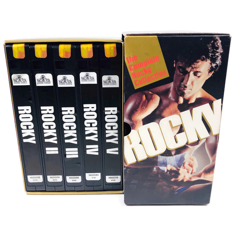 Rocky The Complete Collection 1-5 VHS Set