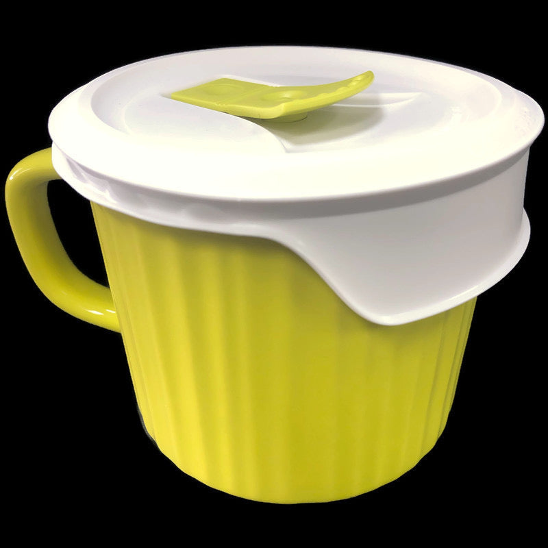 Corning Ware Lime Green Vented Lid 20 Oz Soup Mug