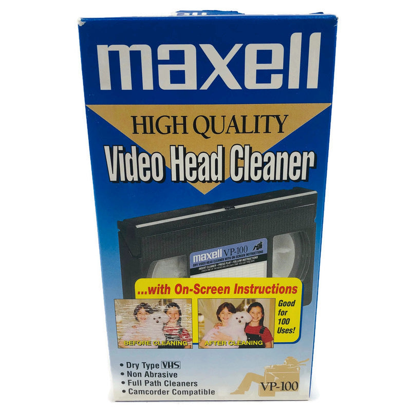 Maxell Dry Type High Quality Video VCR Head Cleaner VHS Tape  VP-100