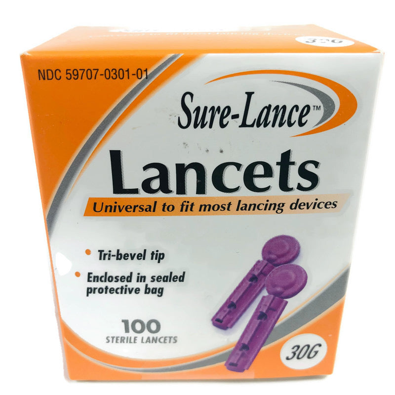 (100) Sure Lance Universal Lancing Devices Lancets