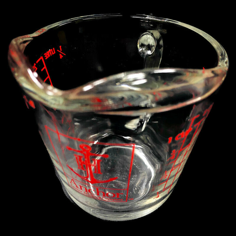 Anchor Hocking Red Letter 1/2 Pint 8 Oz. Measuring Glass Cup