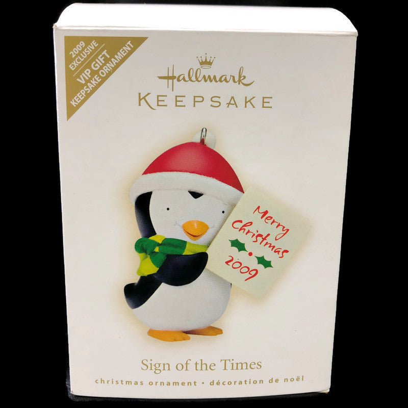 Hallmark Keepsake Sign Of The Time 2009 Exclusive Ornament