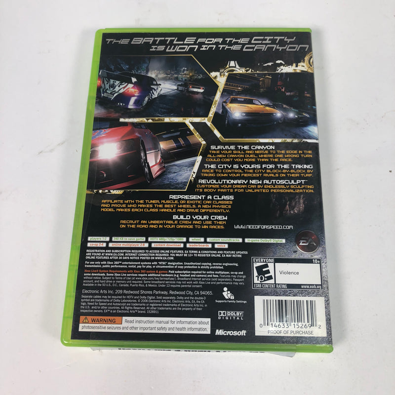 Need For Speed Carbon Microsoft Xbox 360 Complete