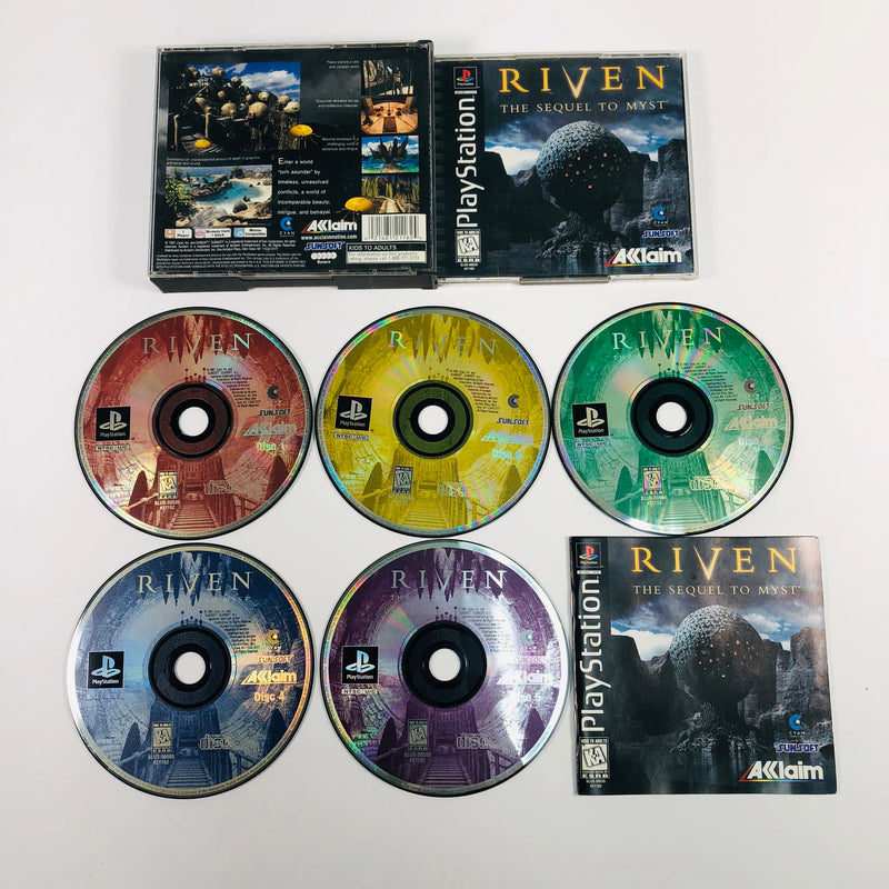 Riven The Sequel To Myst Sony Playstation 1 PS1