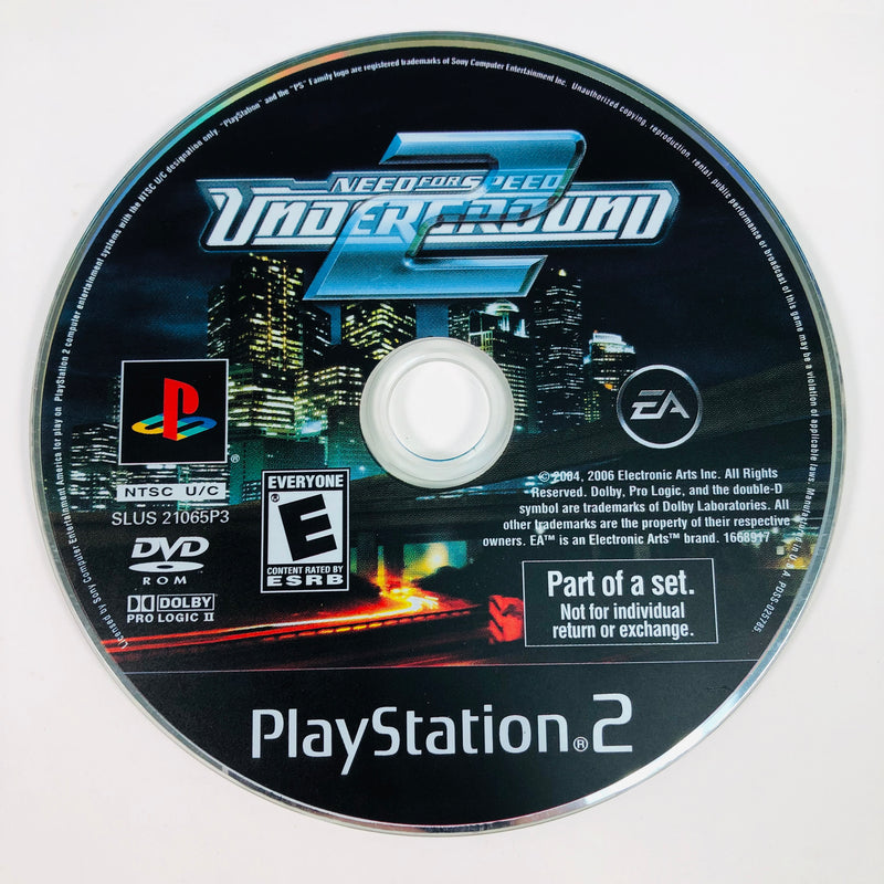 Need For Speed Underground 2 Black Label Sony Playstation 2 PS2