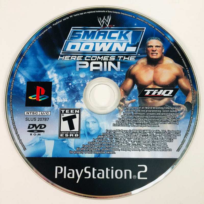WWE Smackdown Here Comes The Pain Black Label Sony Playstation 2 PS2