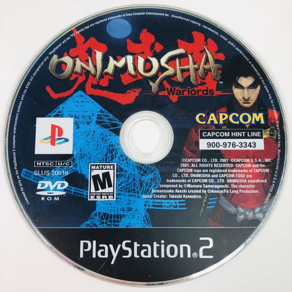Onimusha Warlords Black Label Sony Playstation 2 PS2