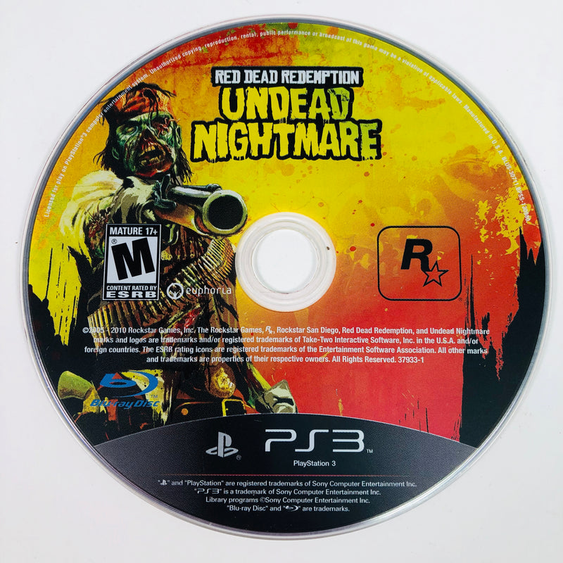 Red Dead Redemption Undead Nightmare Sony Playstation 3 PS3