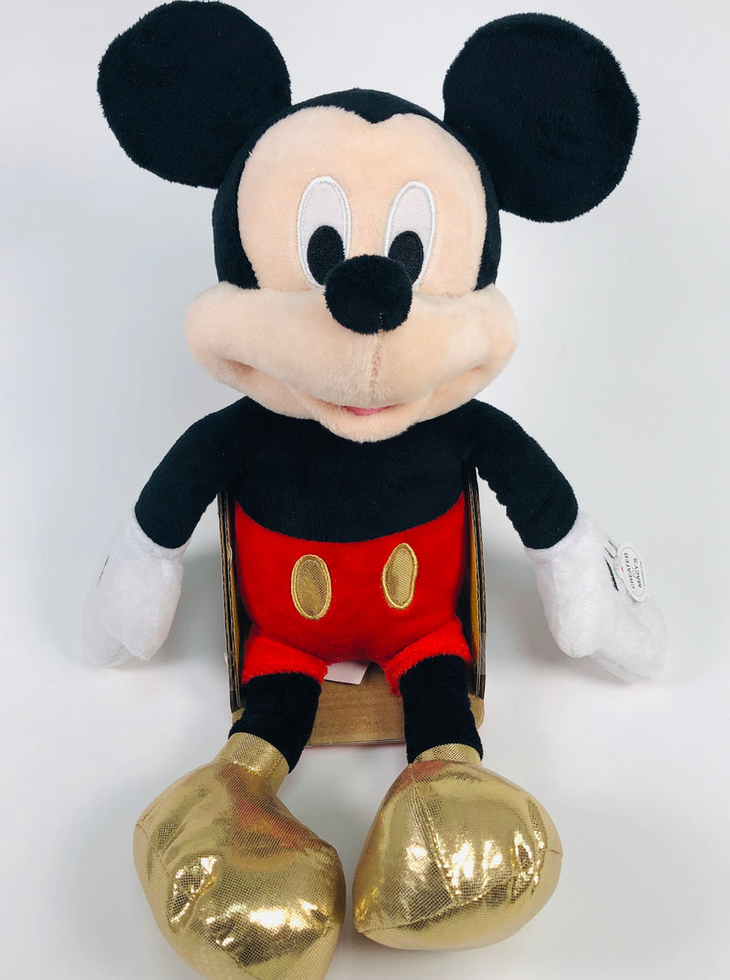 Disney Mickey Mouse Just Play Macys Exclusive Gold Feet Plush Doll Toy