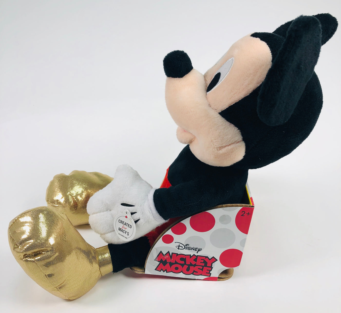 Disney Mickey Mouse Just Play Macys Exclusive Gold Feet Plush Doll
