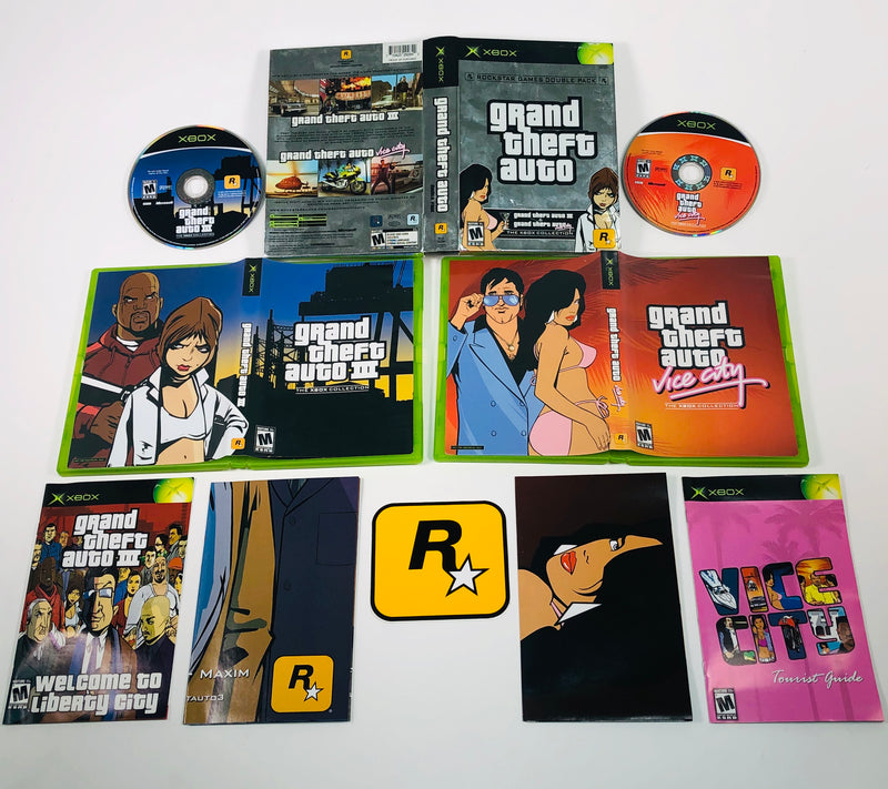 Grand Theft Auto GTA III & Vice City The Xbox Collection Double Pack Microsoft Xbox