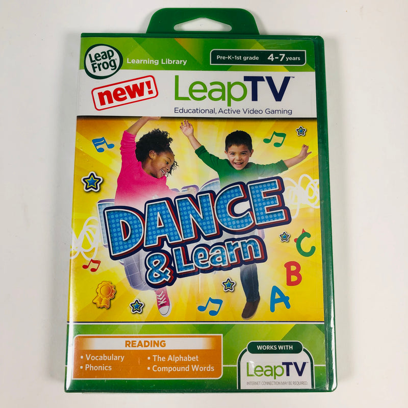 Dance & Learn Leap Frog LeapTV 4-7 Years Educational Active Video Game