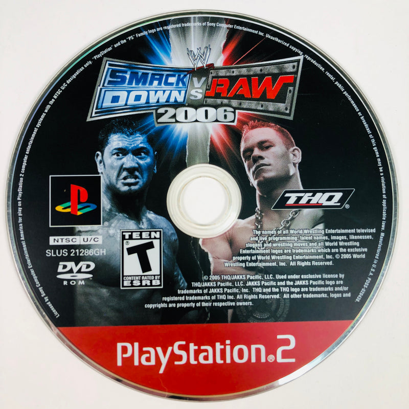 WWE SmackDown Vs Raw 2006 Greatest Hits Sony Playstation 2 PS2