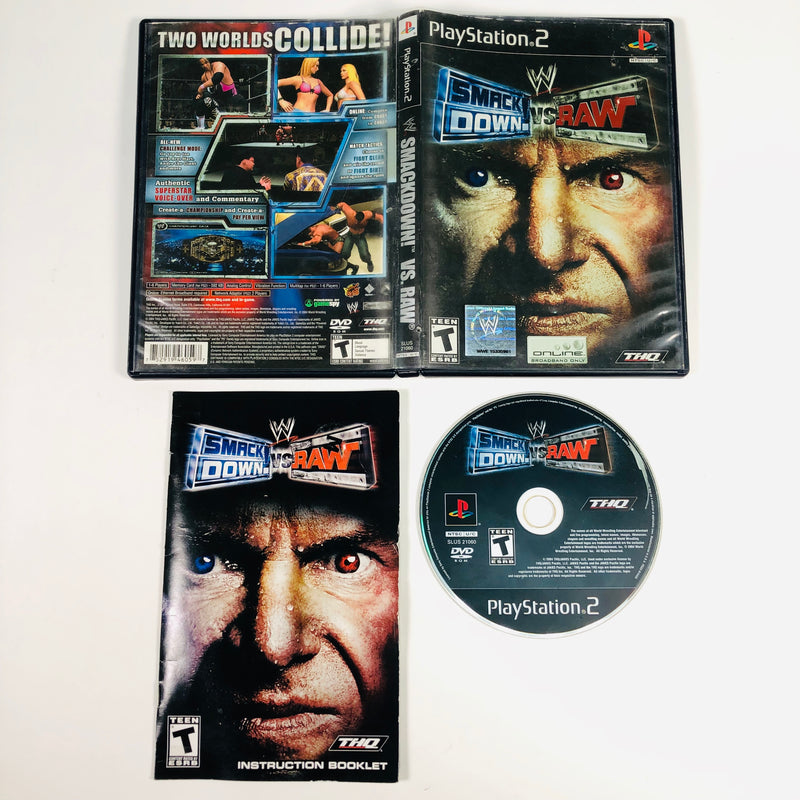 WWE SmackDown Vs Raw Black Label Sony Playstation 2 PS2