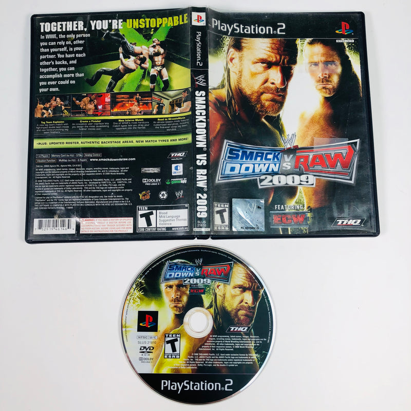 WWE SmackDown Vs Raw 2009 Sony Playstation 2 PS2
