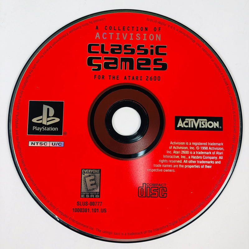 A Collection Of Activision Classic Games For The Atari 2600 Black Label Sony Playstation 1 PS1
