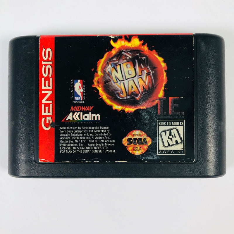 NBA Jam Tournament Edition TE Sega Genesis