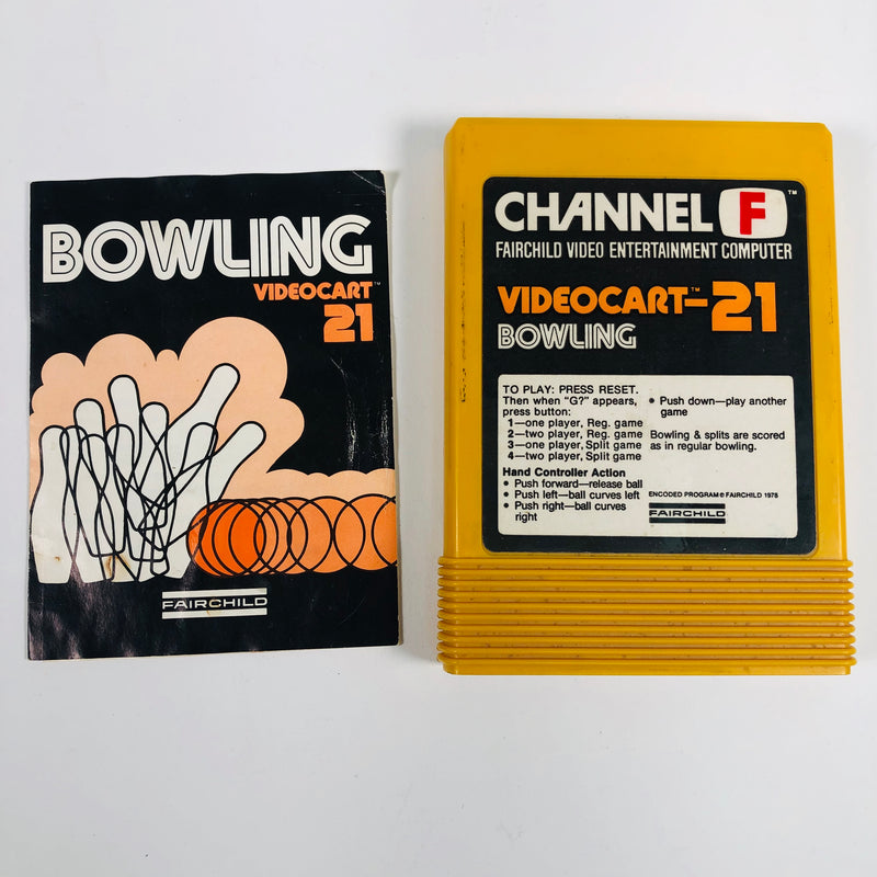 Bowling Videocart-21 Fairchild Channel F