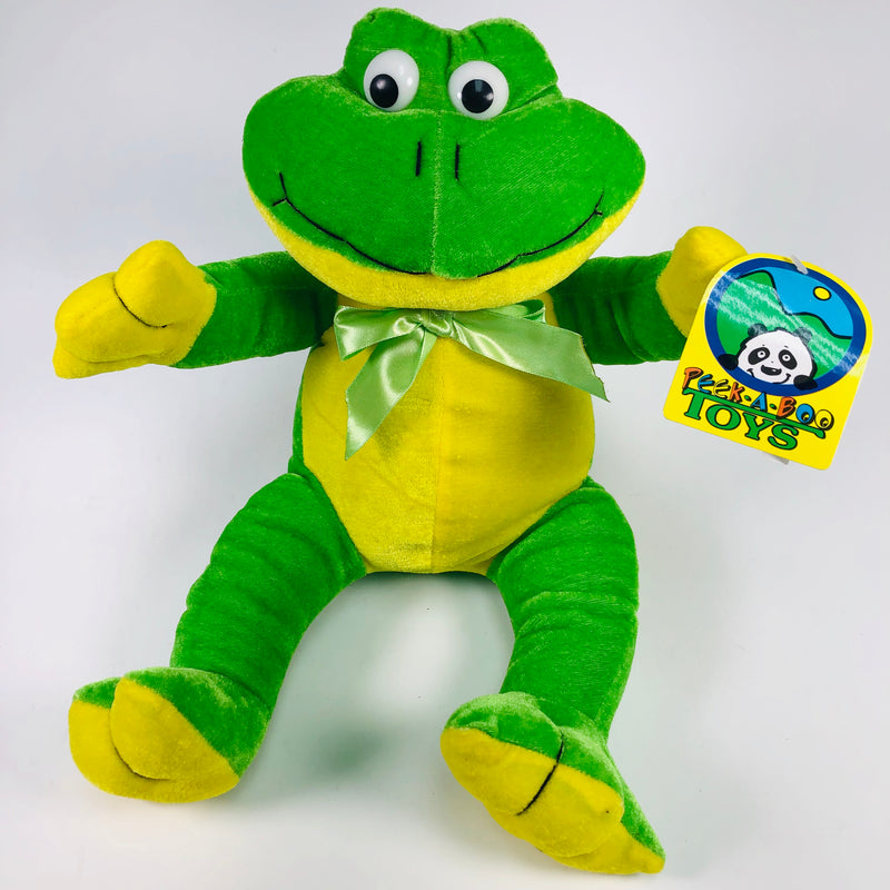 "Peek-A-Boo Toy 13"" Stuffed Plush Frog Animal"