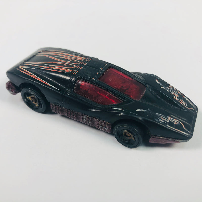 Hot Wheels Black 1974 Silver Bullet Car Toy Vehicle