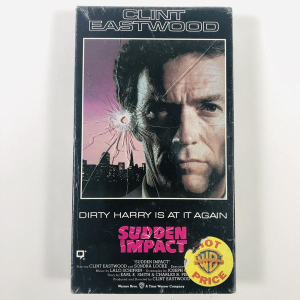 Sudden Impact Dirty Harry Is At It Again Clint Eastwood VHS Tape