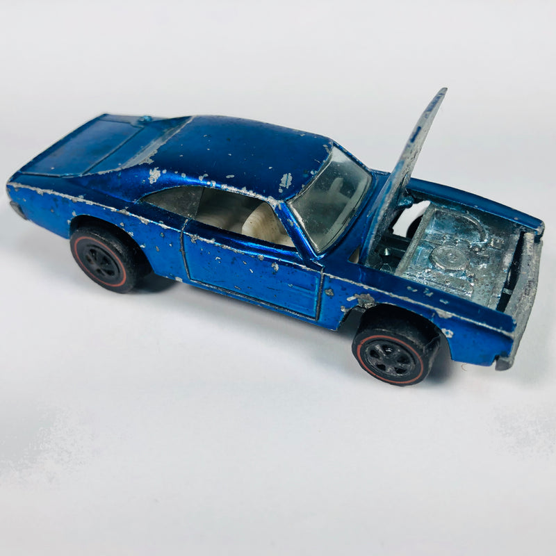 Hot Wheels Blue 1968 Custom Dodge Charger Car Toy Vehicle