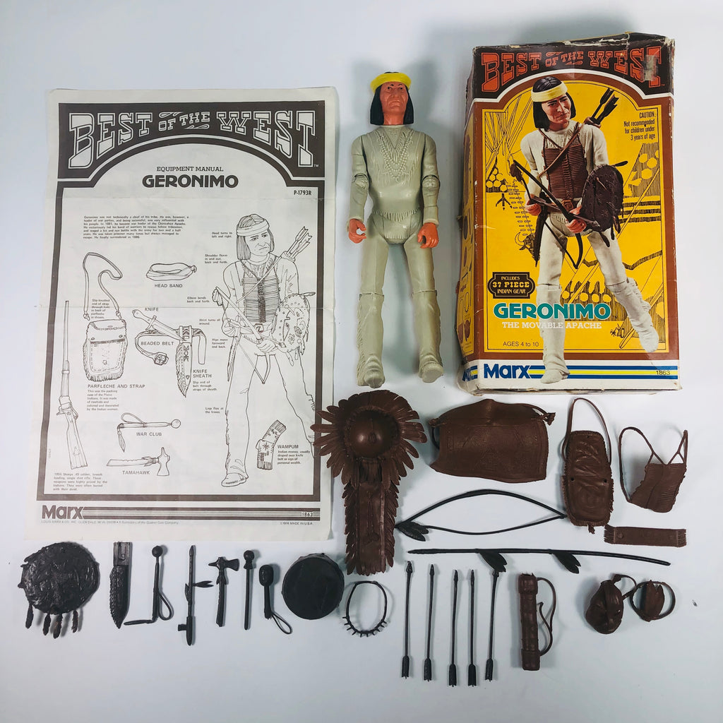 Marx 1974 Best of the West: Geronimo The Movable Apache Action Figure