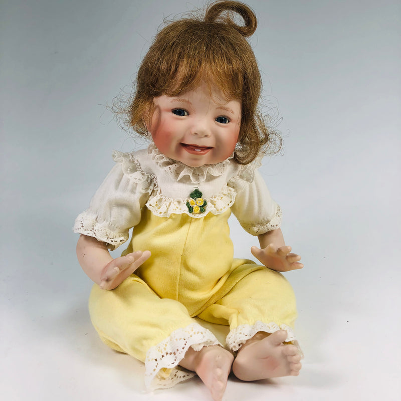 Dianna Effner Baby Girl Porcelain Doll Yellow Clothes 2912FA