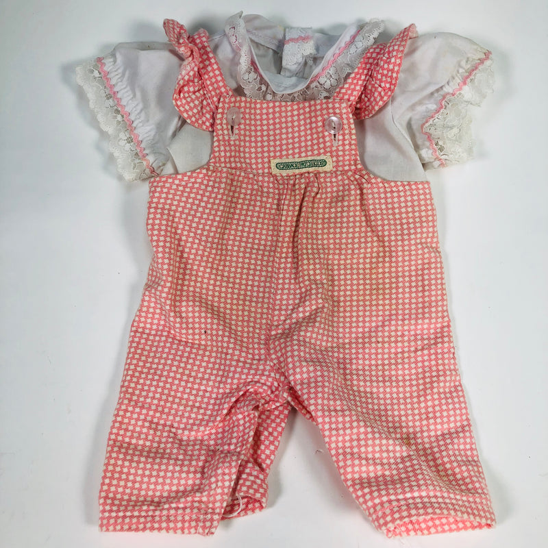 Cabbage Patch Kids CPK Pink Overalls W/ White Undergarment