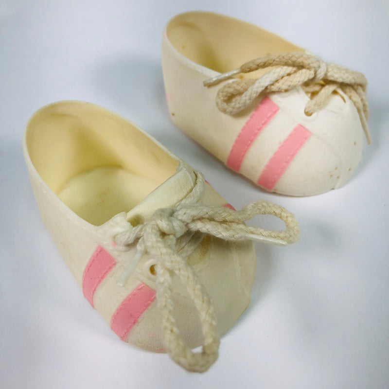 Cabbage Patch Kids CPK White & Pink Striped Shoes